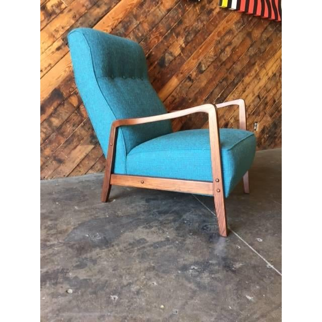 Mid-Century Sculpted Reupholstered Chair - Image 6 of 6