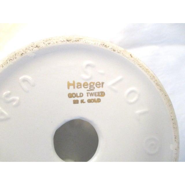 Danish Modern White & Gold Vase & Bowl For Sale - Image 9 of 10