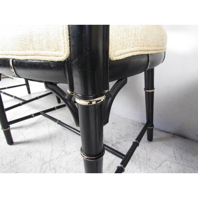 Mid-Century Modern Bamboo Style Dining Chairs- Set of 4 For Sale - Image 9 of 10