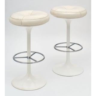 White Modernist Bar Stools by Bröderna Johanson - a Pair Preview