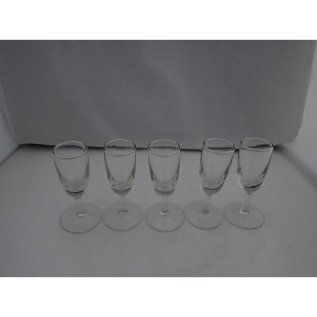 Mid-Century Modern Mid Century Clear Shot Glasses - Set of 5 For Sale - Image 3 of 5