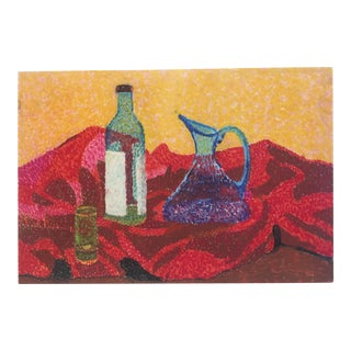 Original Vintage Pointalist Still Life Painting For Sale