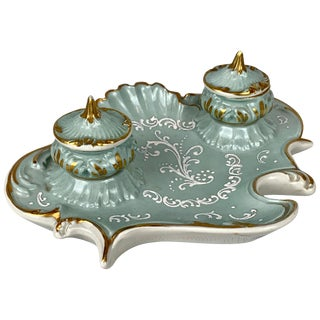 Inkstand for a Ladies Desk-French Porcelain For Sale
