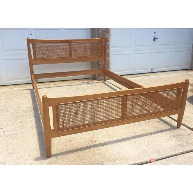 Wood 1950s Danish Modern Drexel Full Bedframe For Sale - Image 7 of 7