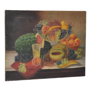 Late 19th Century Fruit Still Life Oil Painting For Sale
