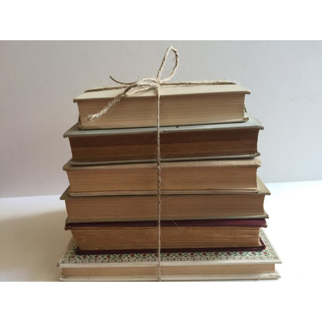 Cream Colored Vintage Books - Set of 6 - Image 3 of 4