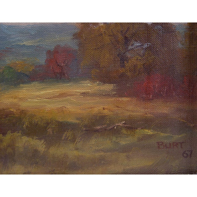 Texas landscape by Dan Burt (b. 1930) Texas. Oil on linen, signed and dated 1967 lower right corner. Unframed.