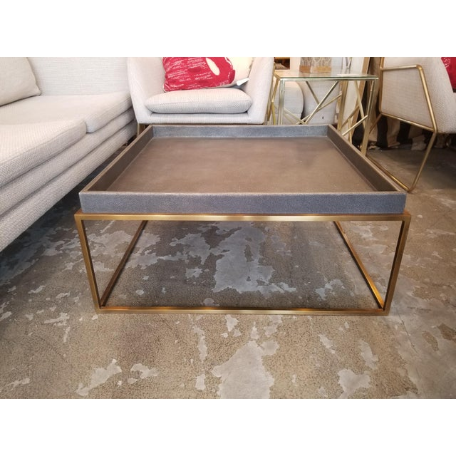 Restoration Hardware Shagreen Tray Square Coffee Table For Sale In Los Angeles - Image 6 of 6