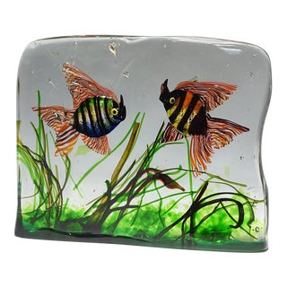 1960 Cenedese Aquarium Model With Two Fish For Sale