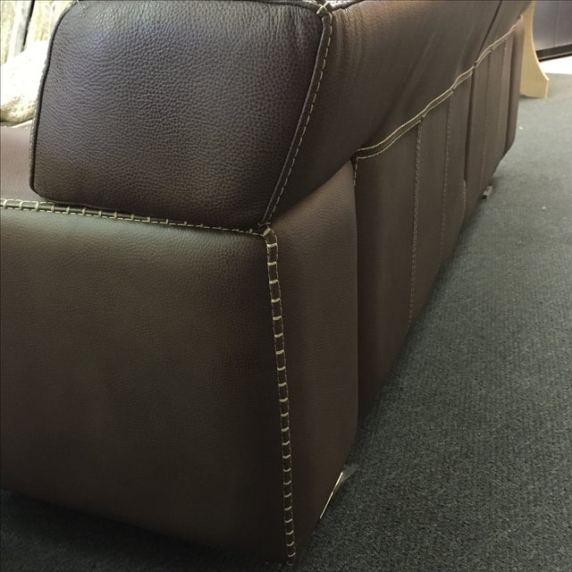 Roche Bobois Urban Leather Loveseat - Image 6 of 10