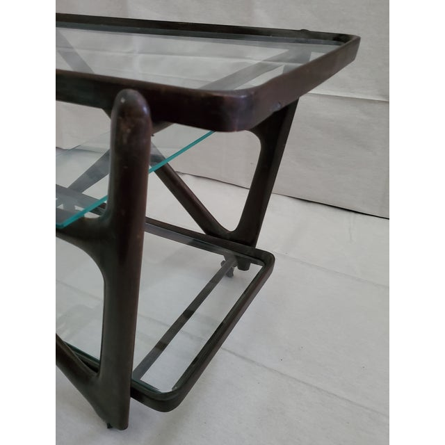 1950s Italian Mid-Century Modern Serving Bar Cart - in Manner of Ico Parisi For Sale - Image 10 of 12
