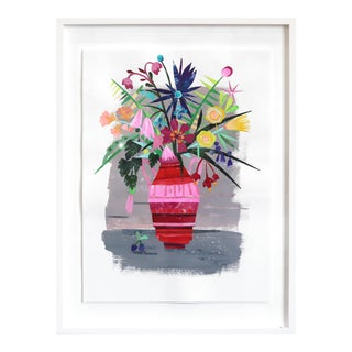"""Garden Flowers"" Original Framed Artwork by Maria C Bernhardsson For Sale"