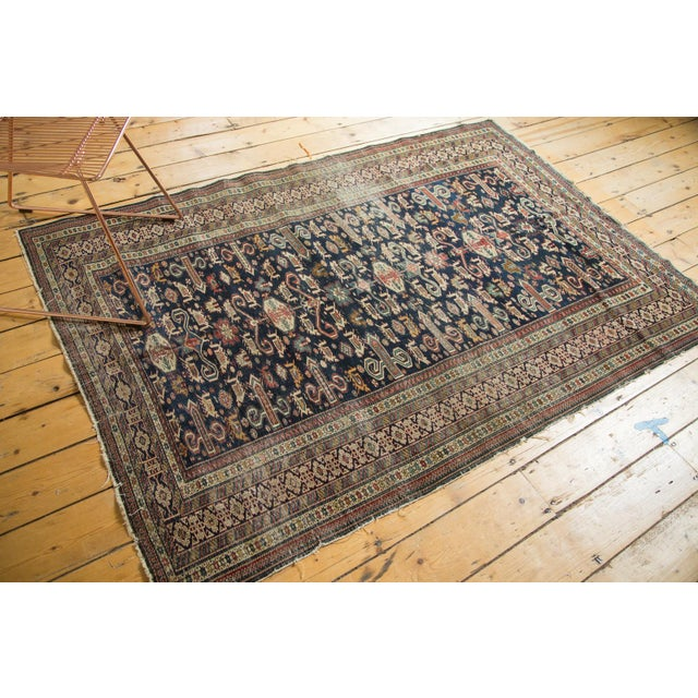 """Antique Shirvan Rug - 4'3"""" x 6'7"""" For Sale - Image 4 of 11"""