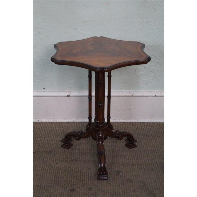 Maitland Smith Style Flame Mahogany Regency Side Table - Image 2 of 10