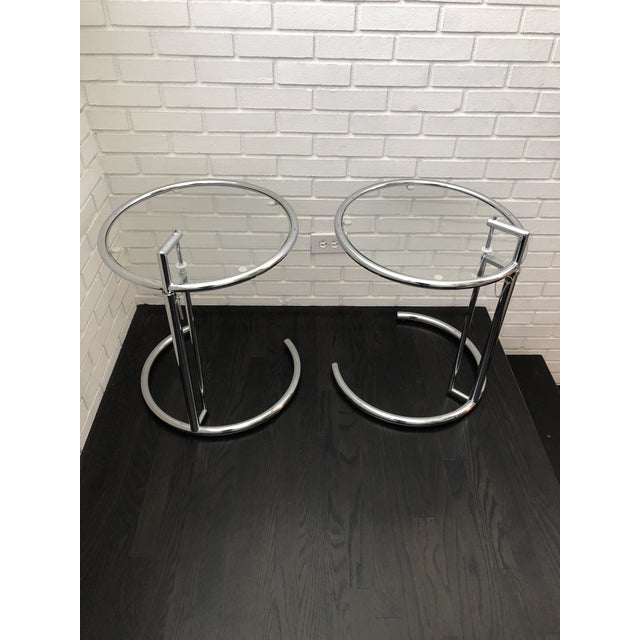 Eileen Gray Inspired Chrome End Tables - a Pair For Sale - Image 10 of 10