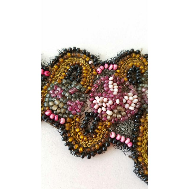 Antique Beaded Embroidered Applique - Image 4 of 5