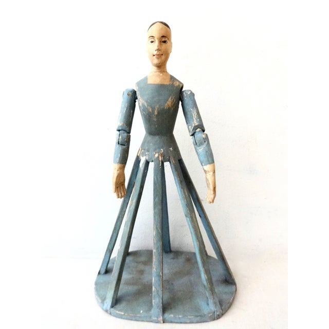Hand Carved Wood Articulated Hands Doll/Mannequin - Image 2 of 6