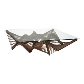 Geo Coffee Table, Medium Brown For Sale