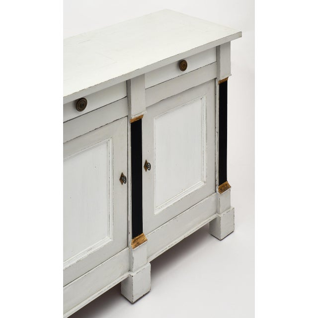 French Painted Directoire Style Buffet For Sale - Image 4 of 11