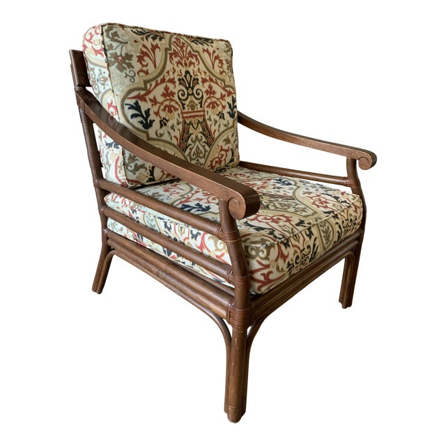 Vintage Mid-Century British Colonial Style Chair For Sale