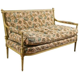 French Louis XVI Style Painted Settee by Jansen