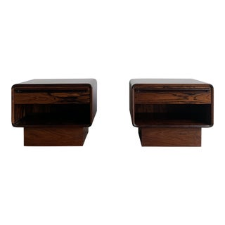 West Nofa Rosewood Nightstands - a Pair For Sale