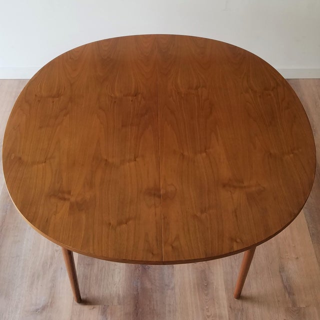Mid-Century Modern 1963 Drexel Declaration Mid-Century Modern Walnut Dining Table For Sale - Image 3 of 13