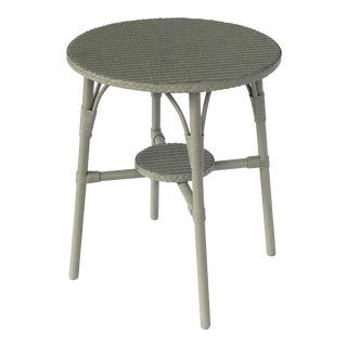 English Wicker Garden Round Occasional Table by Lloyd Loom For Sale