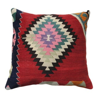 """Kilim Rug Pillow Cover, 20"""" X 20"""", Turkish Pillow, Traditional Kilim Pillow, For Sale"""