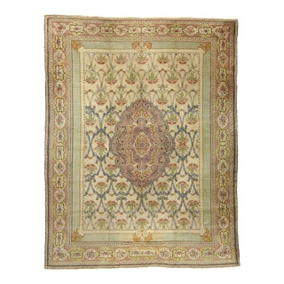 Antique Turkish Hereke Palace Rug Inspired by William Morris Style - 14'07 X 19'02 For Sale