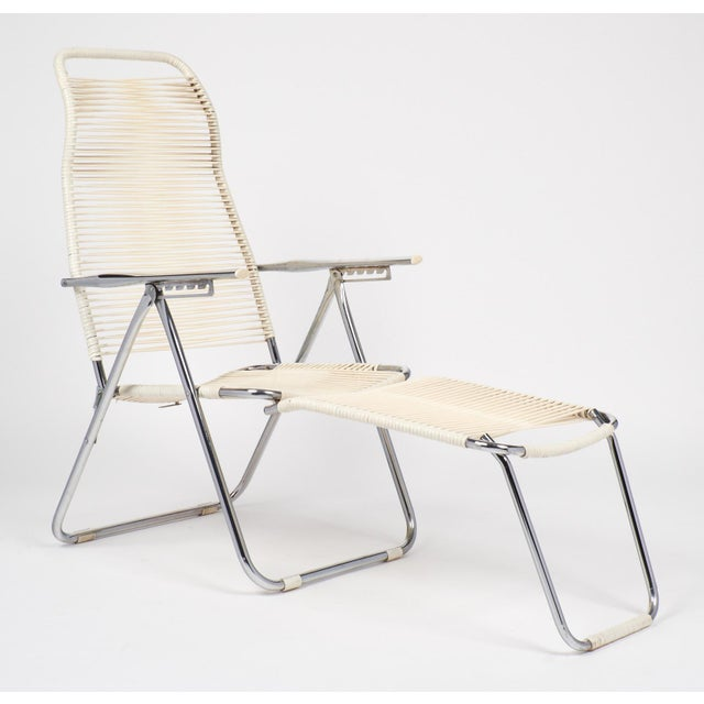 French Vintage French Adjustable Chaises Lounges - A Pair For Sale - Image 3 of 10