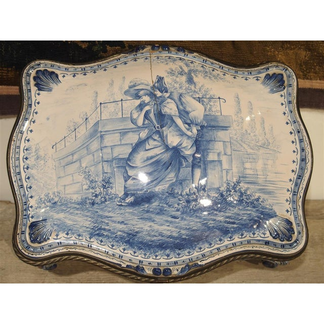 Antique Blue and White Delft Table Box, Late 19th Century For Sale - Image 10 of 13