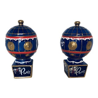 Ceramic Paris Hotel Canisters - a Pair