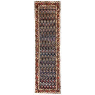 Persian Shirvan Boteh Tribal Hallway Runner - 3′3″ × 12′1″ For Sale