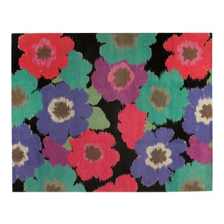 Posies Black, 8 x 10 Rug For Sale
