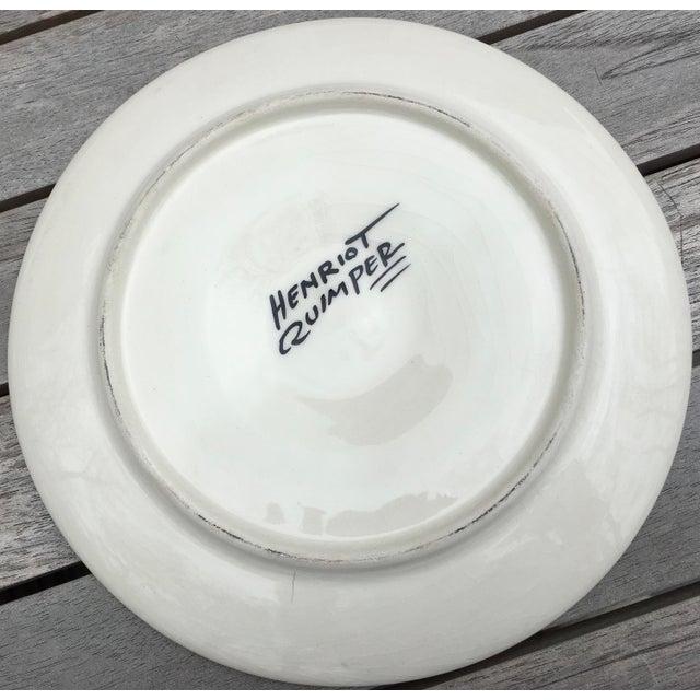 """Vintage Quimper Guy Trevoux """"Sea Life"""" Faïence Oyster Service for 6 For Sale - Image 10 of 12"""