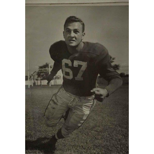 Early American Framed 1950s Football Portrait For Sale - Image 3 of 5