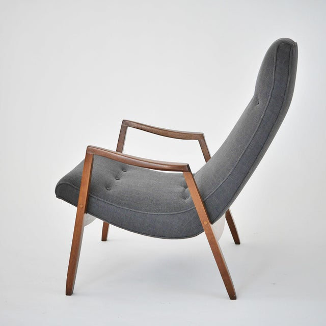 Milo Baughman Pair of Scoop Lounge Chairs - Image 6 of 7