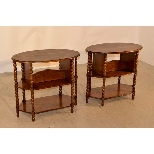 Late 19th C Pair of English Side Tables For Sale - Image 4 of 7