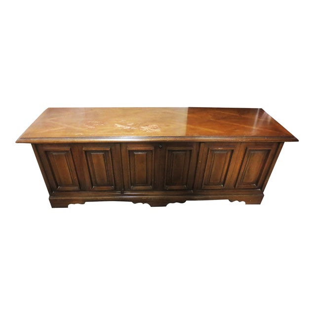 Lane Low Paneled Cedar Chest - Image 1 of 9