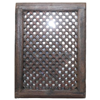 Antique Hand-Carved Jali Mirror