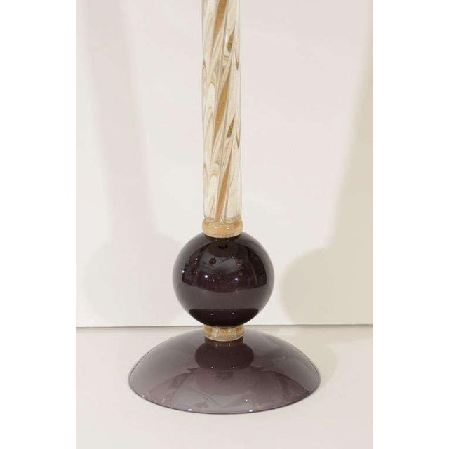 Murano Glass Lamps - A Pair For Sale - Image 4 of 8
