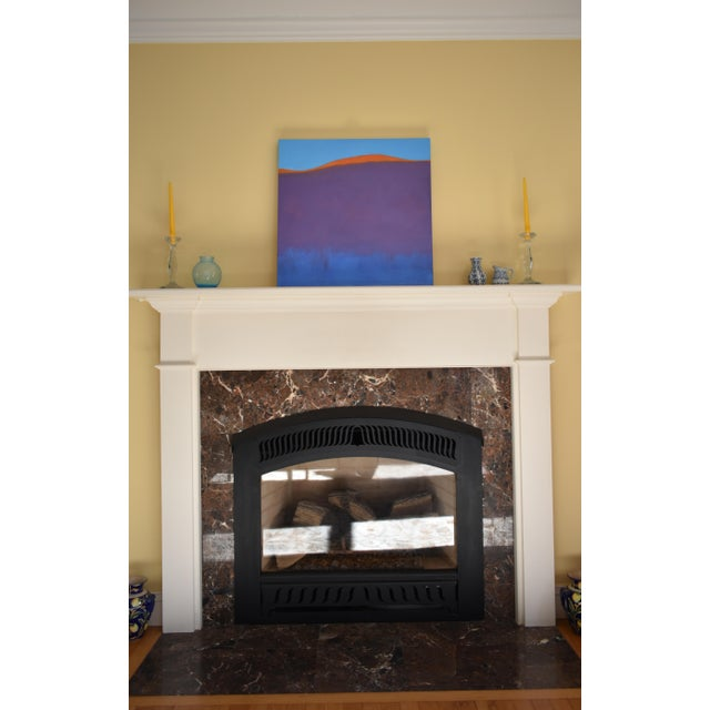 """Purple Stephen Remick """"Sunset on the Mountain"""" Contemporary Abstract Painting For Sale - Image 8 of 10"""