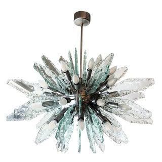 Chiseled Glass Sputnik Chandelier by ZeroQuattro For Sale