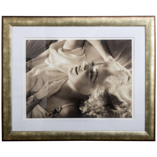 Framed Archival Pigment Print of Jean Harlow: George Hurrell, 1936 - Image 8 of 8