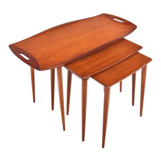 Jens Quistgaard Teak Nesting Tables - 3 Pieces For Sale