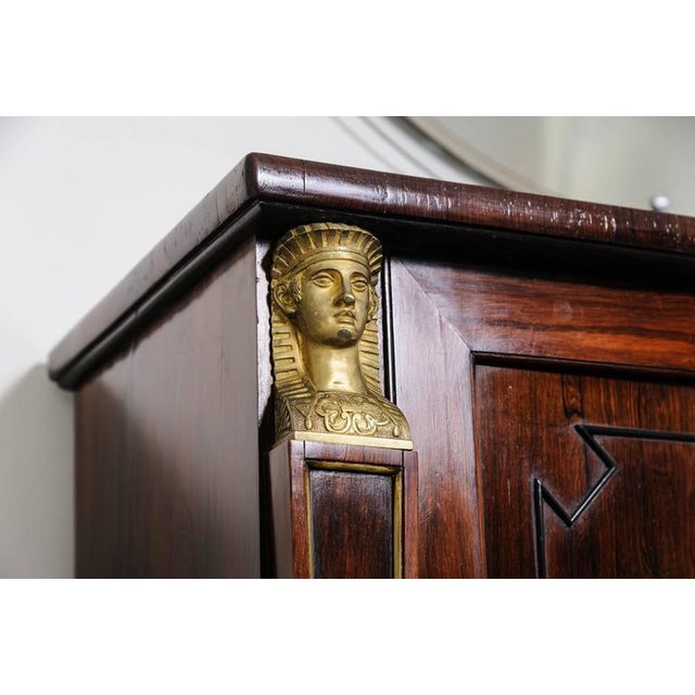 19th Century English Regency, Two-Door Cabinet, Rosewood with Doré Bronze Mount For Sale In West Palm - Image 6 of 9