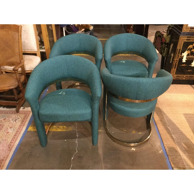 Modern Vintage Milo Baughman for Carson Chairs- Set of 4 For Sale - Image 3 of 6
