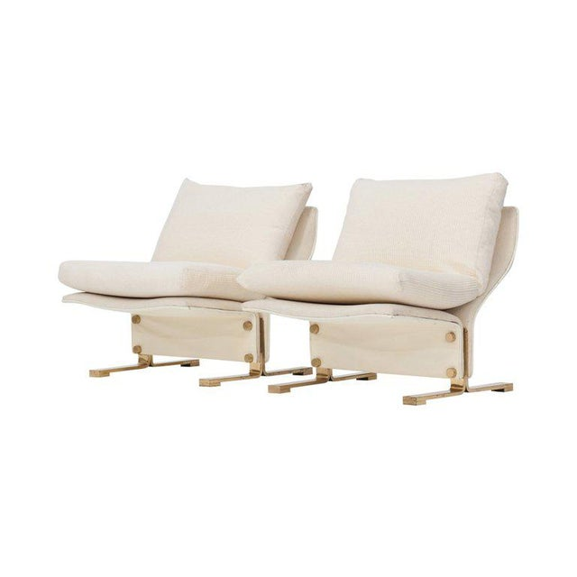 Hollywood Regency Pair of Lounge chairs by Marzio Cecchi, Italy, 1960s For Sale - Image 3 of 10
