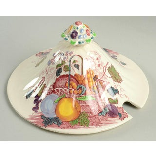Vintage Mason's Fruit Basket Red Multicolor Tureen & Lid With Ladle Preview